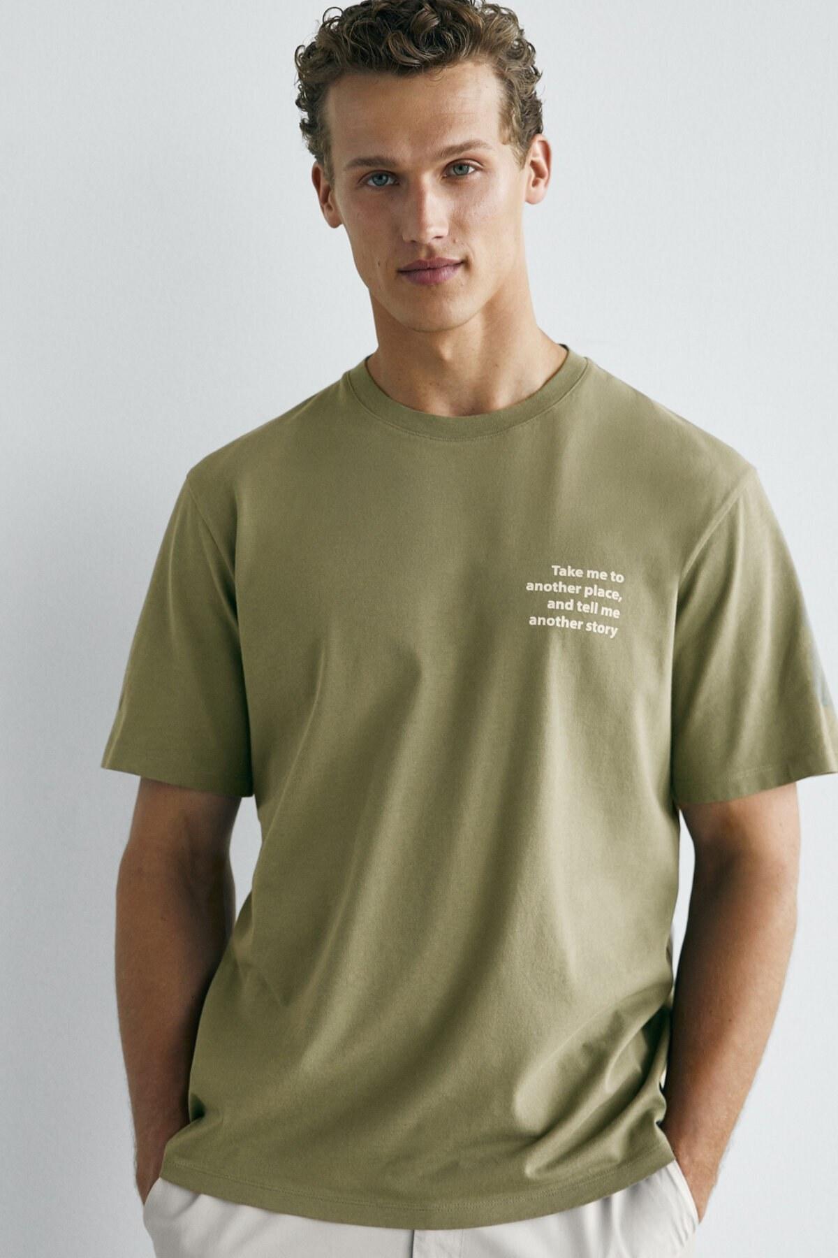 تصویر تیشرت مردانه ارزان برند Massimo Dutti رنگ نقره ای کد ty107214511