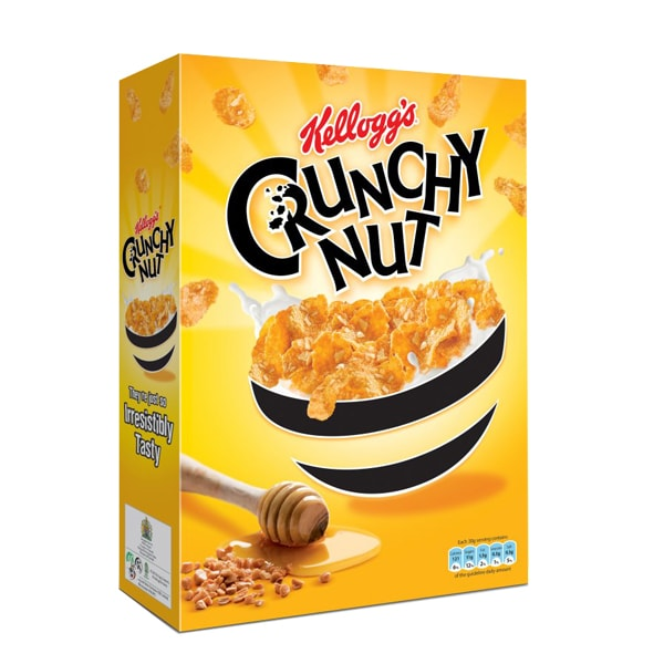 تصویر غلات صبحانه Kellogg's Crunchy Nut عسل و بادام زمینی