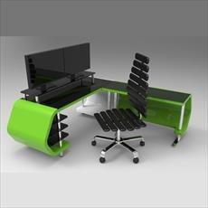 main images میز کامپیوتر طراحی شده در سالیدورک و کتیا