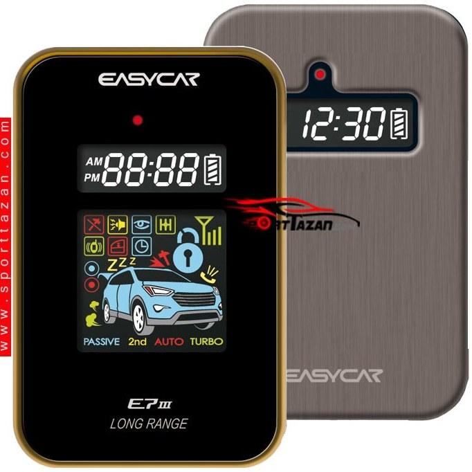 تصویر دزدگیر تصویری استارتر ایزیکار مدل E7III LA AS Easycar E7 III LA AS Car Alarm