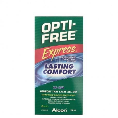 تصویر محلول شستشوی لنز اپتی فری اکسپرس آلکون ۱۲۰ میلی لیتر Alcon Opti Free Express 120 ml