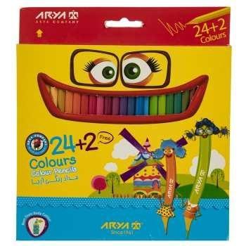 تصویر مداد رنگی 24 رنگ مدل 3017 آریا ا 24 color pencil Aria 3017 color 24 color pencil Aria 3017 color