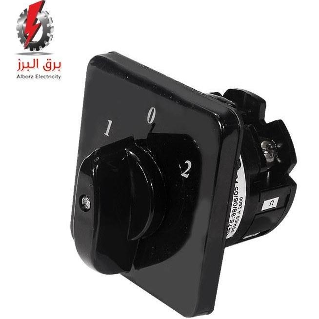 تصویر کلید گردان تکفاز دوطرفه 25A الکترو کهربا