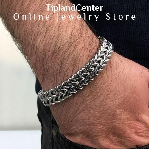 عکس دستبند استیل مردانه  دستبند-استیل-مردانه