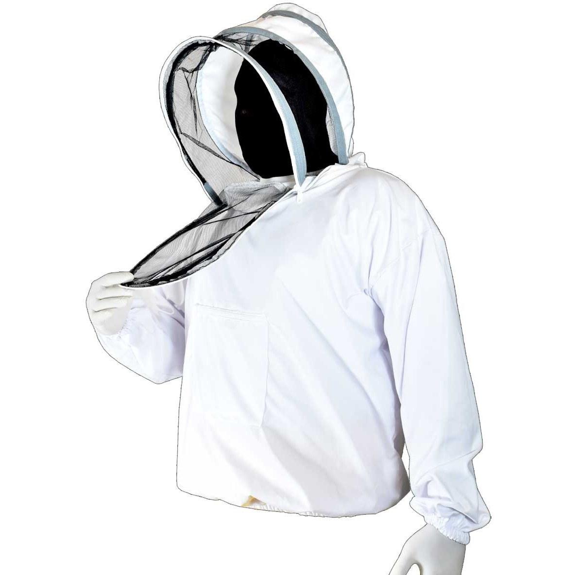 تصویر نیم تنه زنبورداری با کلاه فضایی صورت جدا