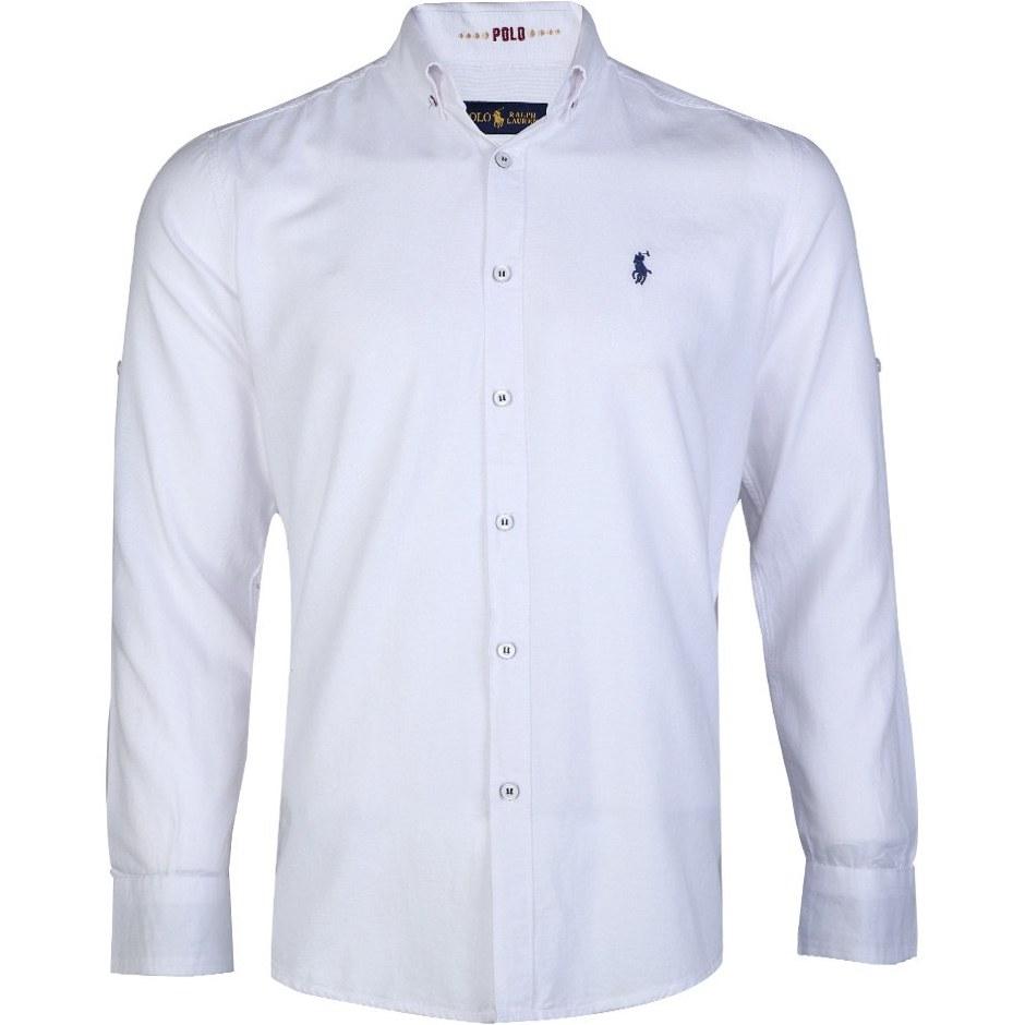 تصویر پیراهن مردانه جودون آستین بلند سفید