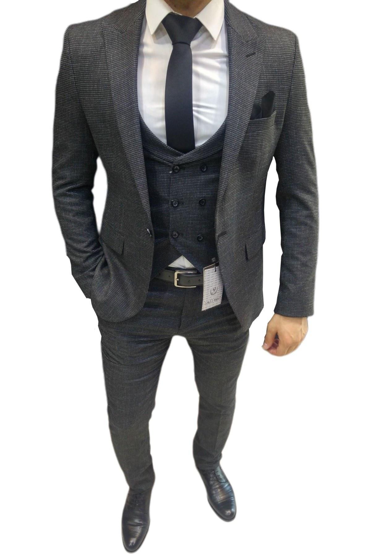 تصویر کت شلوار مردانه سال ۹۹ برند eximius رنگ نقره ای کد ty71344450