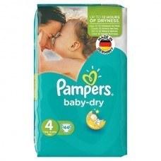 پوشک پمپرز مدل Baby Dry سایز 4 بسته 44 عددی   Pampers Baby Dry Size 4 Diaper Pack of 44