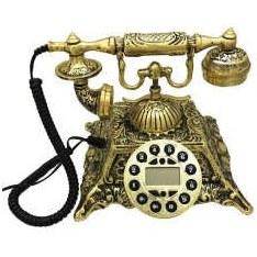 تصویر تلفن کلاسیکمدل برنجی کد 33