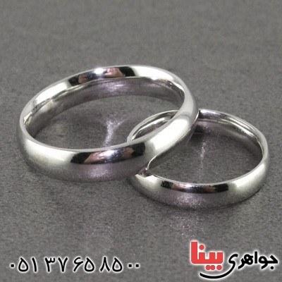 انگشتر نقره ست حلقه ازدواج رینگی روکش پلاتین _کد:۱۵۸۳۶