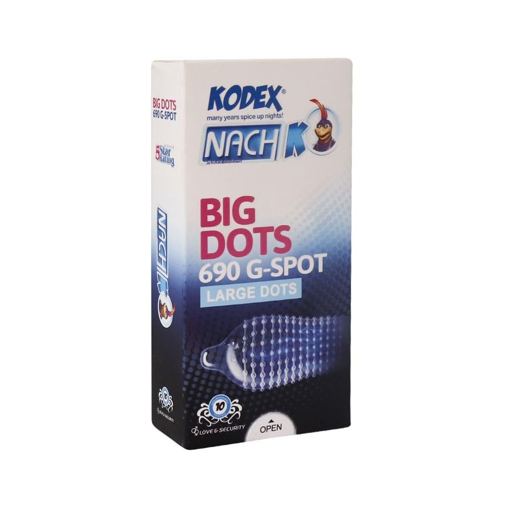 تصویر کاندوم خاردار بیگ دات BIG DOTS ناچ کدکس 12 عددی Nach Kodex Big Dots Condom 12numeric