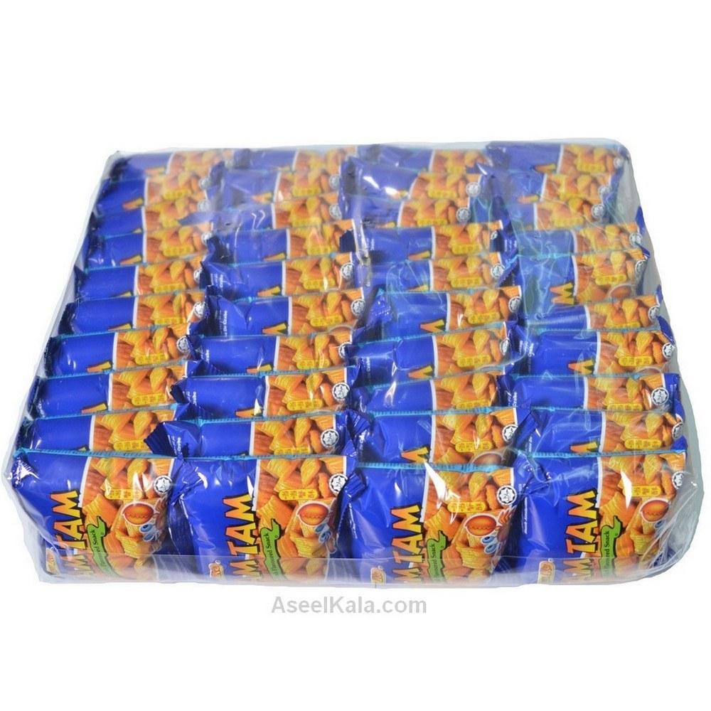 تصویر چیپس خرچنگ Snek Ku مدل Tam Tam بسته 50 عددی