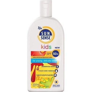 لوسیون ضد آفتاب کودکان سان سنس کیدز SPF50 کیووی ایگو 250 میلی لیتر