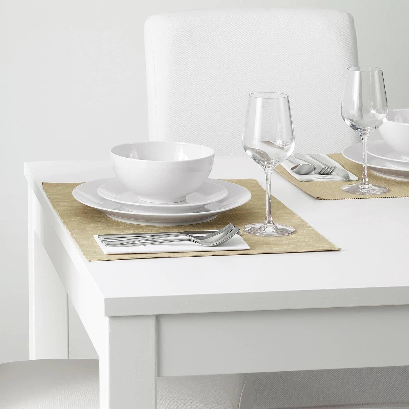تصویر زیربشقابی پارچه ای بژ ایکیا مدل MARIT IKEA MARIT Place mat beige