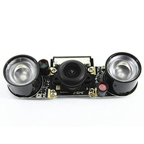 Bewinner OV5647 Camera,Wide Angle Fisheye Lens with Fill Light Camera Module for Raspberry Pi 3//2//B,500 Million Pixels Sensor