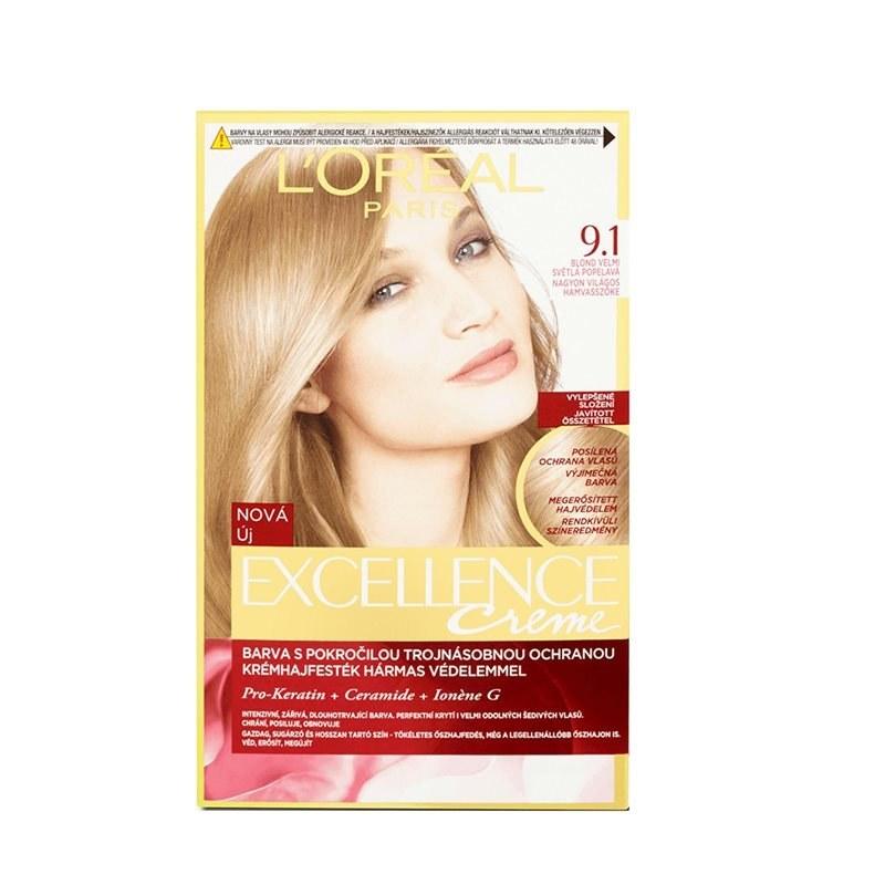 کیت رنگ مو لورآل مدل Excellence شماره 9.1
