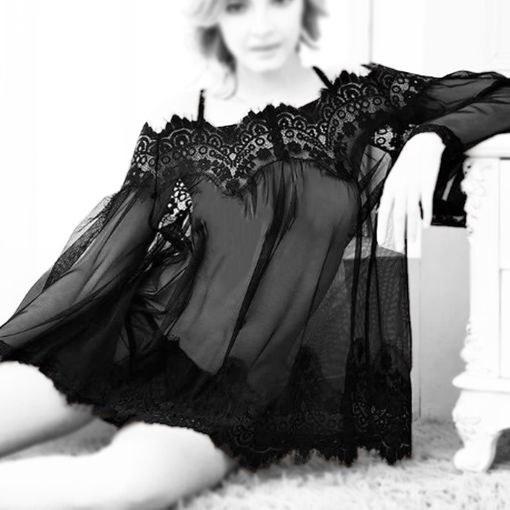 لباس خواب فانتزی توری زنانه sisent کد 6061