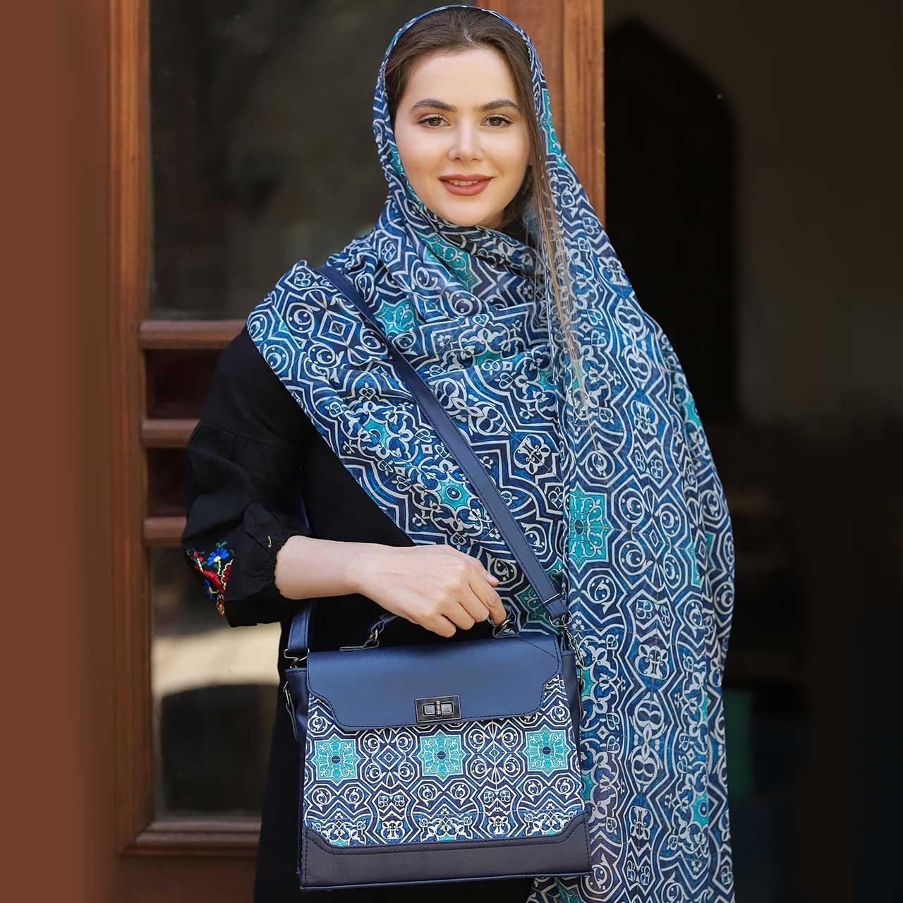 تصویر ست کیف و شال زنانه پیچک کد 01 ا Women  Bag  and  Shawl  Set Code 01 Women  Bag  and  Shawl  Set Code 01