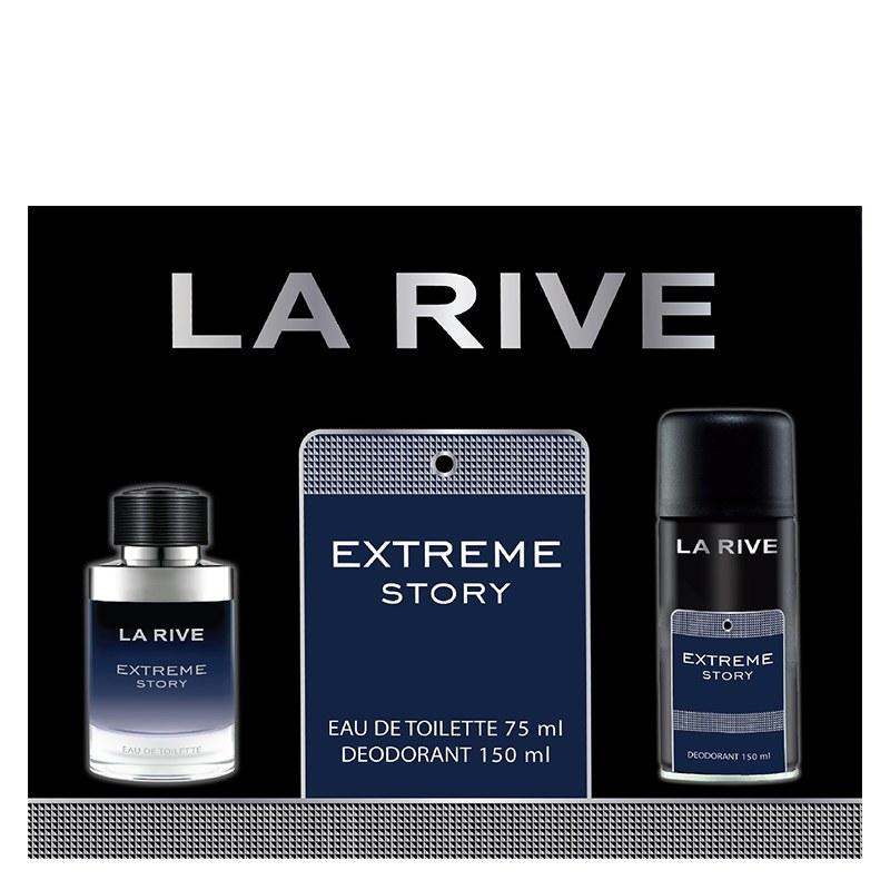 تصویر ست ادوتویلت و دئودورانت مردانه لا ریو مدل Extreme Story La Rive Extreme Story Set For men 2PCS