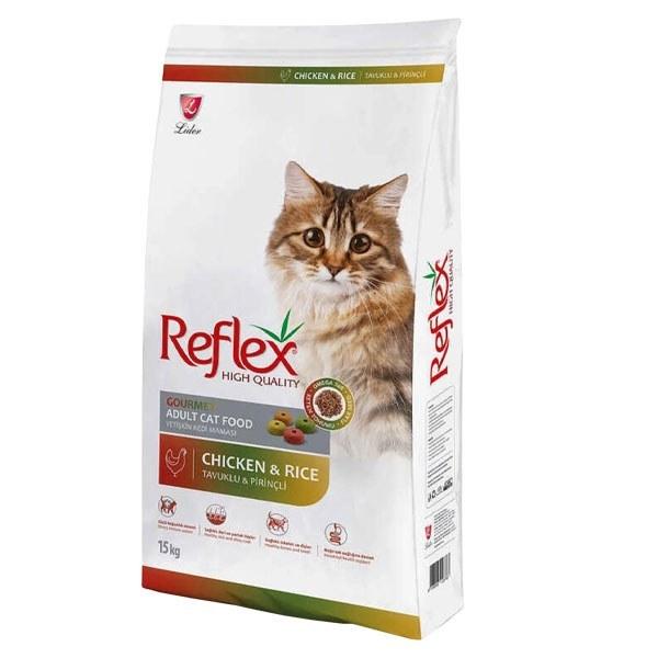 تصویر غذای خشک رفلکس مولتی کالر مخصوص گربه بالغ حاوی گوشت مرغ و برنج 15 کیلوگرمی Reflex Multi Color Adult Cat Chicken and Rice 15 kg