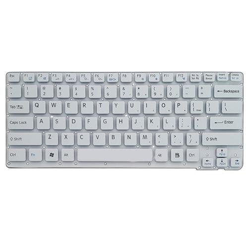 main images کیبرد لپ تاپ سونی VPC-CA سفید-اینترکوچک بدون فریم Keyboard Laptop Sony VPC-CA White