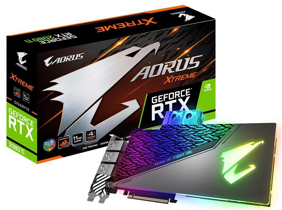 کارت گرافیک گیگابایت مدل AORUS GeForce RTX ۲۰۸۰ Ti XTREME WATERFORCE WB با حافظه ۱۱ گیگابایت | GigaByte AORUS GeForce RTX 2080 Ti XTREME WATERFORCE WB 11G Graphics Card