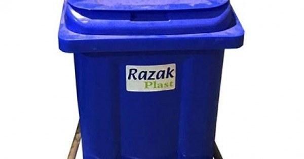 تصویر سطل زباله ۶۰ لیتری پدال دار