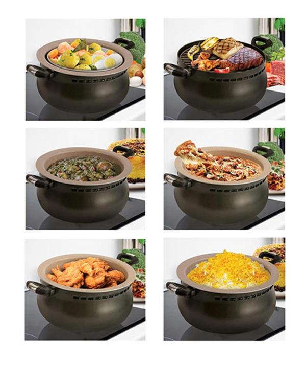 تصویر سرویس غذاپز 8 پارچه همه کاره ناخ مدل اریکا