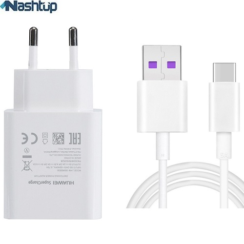 main images شارژر ديوارى فست شارژ و سريع اصلى همراه كابل هواوى گوشى Huawei view 20 Huawei view 20 Quick charge adapter with cable