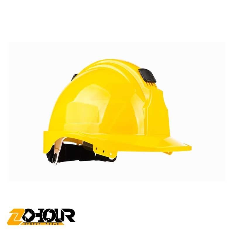 تصویر کلاه ایمنی رنگ زرد پرشین سیفتی مدل x90