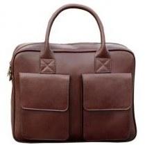 تصویر کیف اداری چرم طبیعی بیسراک قهوه ای