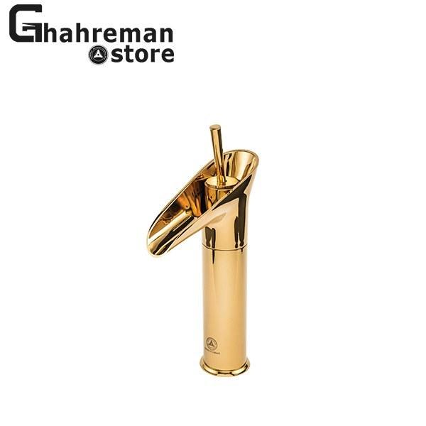 تصویر شیر روشویی آنتیک آبشار طلایی قهرمان