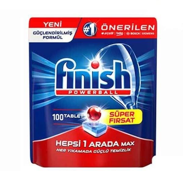 قرص ماشین ظرفشویی فینیش پاوربال 100 عددی Finish Powerball