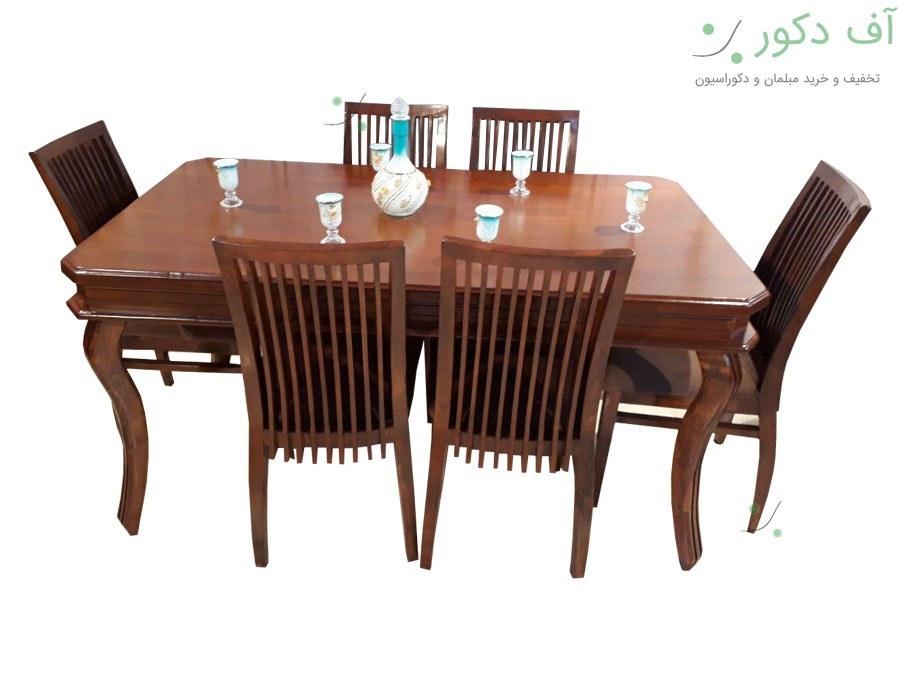 میز ناهار خوری 6 نفره رومی