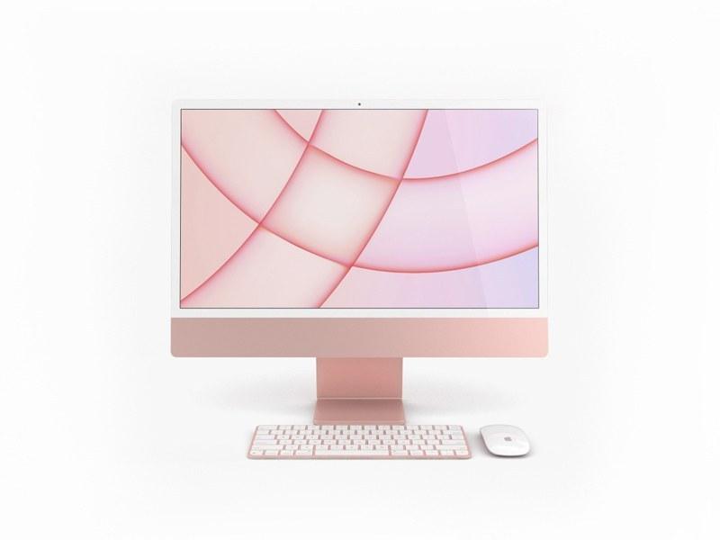 تصویر کامپیوتر اپل I MAC 24inch Apple M1 GPU 8Core 512G MGPN3 Pink I MAC 24inch Apple M1 GPU 8Core 512G MGPN3 Pink