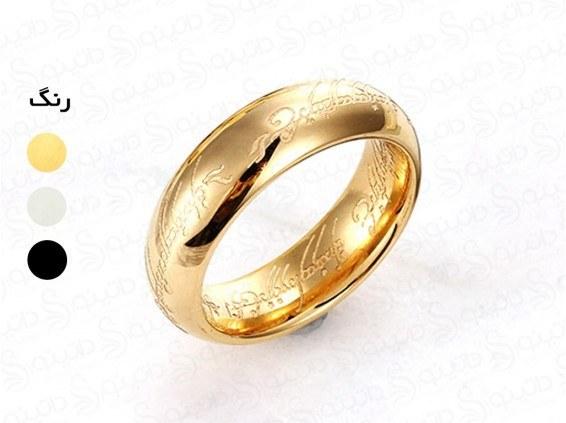 حلقه یگانه ارباب حلقه ها لبه گرد حکاکی فرورفته fan-r-6-5