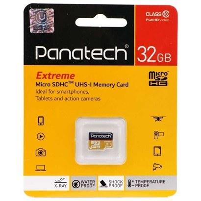 تصویر کارت حافظه microSDXC پاناتک مدل Extreme کلاس 10 استاندارد UHS-I U1 سرعت 30MBps ظرفیت 32 گیگابایت Panatech MicroSD Class 10 30MBps 32GB
