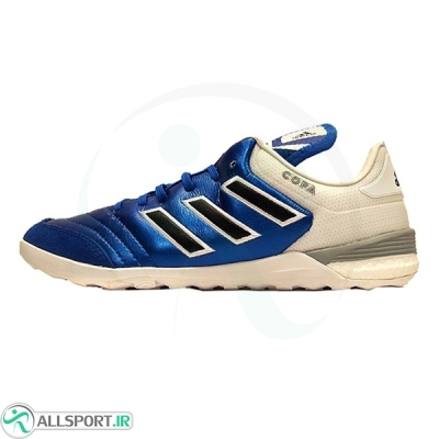 کفش فوتسال آدیداس کوپا طرح اصلی آبی سفید Adidas Copa