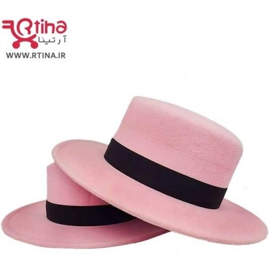 تصویر کلاه گرد لبه دار دخترانه/زنانه رنگ صورتی مدل RT-SP1