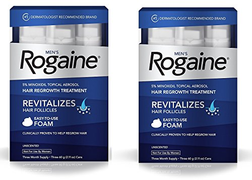 فوم رشد مجدد مو و ضد ریزش مو مردانه روگین Men's Rogaine Foam |