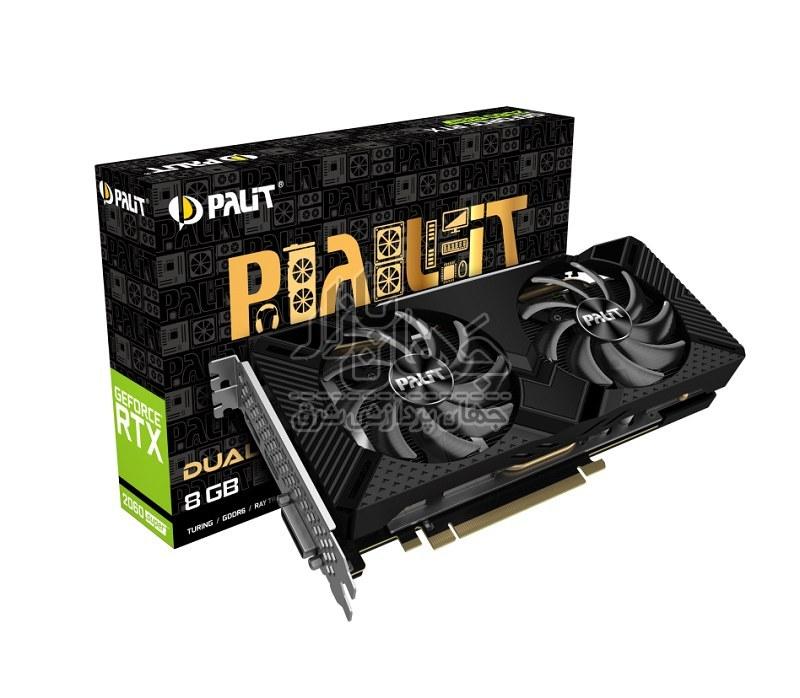 تصویر کارت گرافیک گیمینگ پلیت GeForce RTX 2060 SUPER DUAL ظرفیت 8 گیگابایت (Palit GeForce RTX 2060 SUPER DUAL 8 GB GDDR6)
