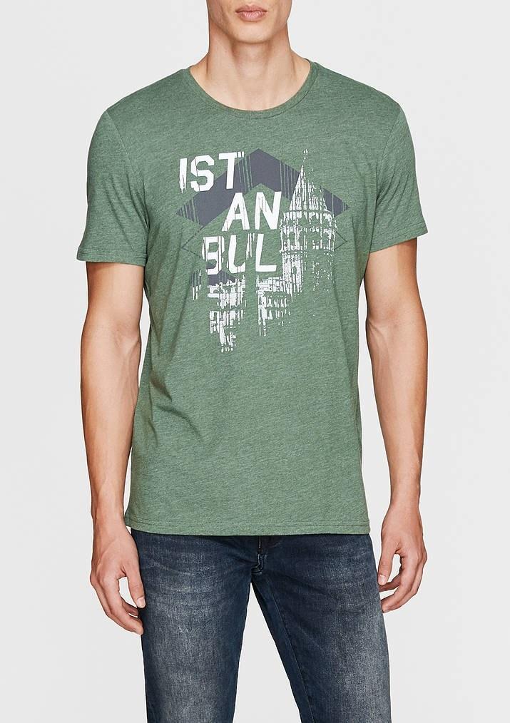 تصویر تی شرت مردانه طرح دار ماوی