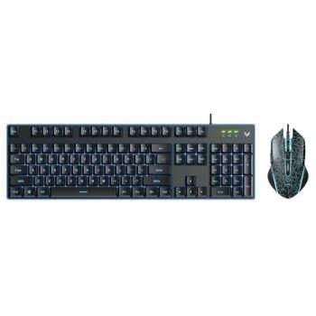 تصویر کیبورد و ماوس گیمینگ باسیم رپو مدل V100s ا Rapoo V100S Backlit Gaming Keyboard and Optical Mouse Combo Rapoo V100S Backlit Gaming Keyboard and Optical Mouse Combo