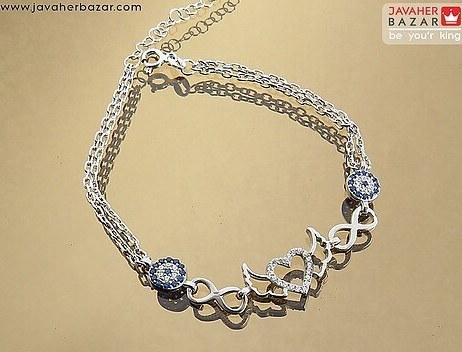 تصویر دستبند نقره زیبا دخترانه زنانه - کد 65617
