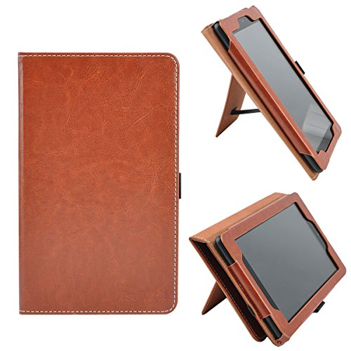 main images کیس کتابخوان الکترونیکی آمازون کیندل پیپر وایت TsuiWah Vertical/Horizontal Stand Hand Strap Case,Cover With Auto Sleep/Wake for All-New Fire 7 Tablet with Alexa (7th Gen, 2017 Release) / Fire 7 (5th Gen, 2015 Release), Brown