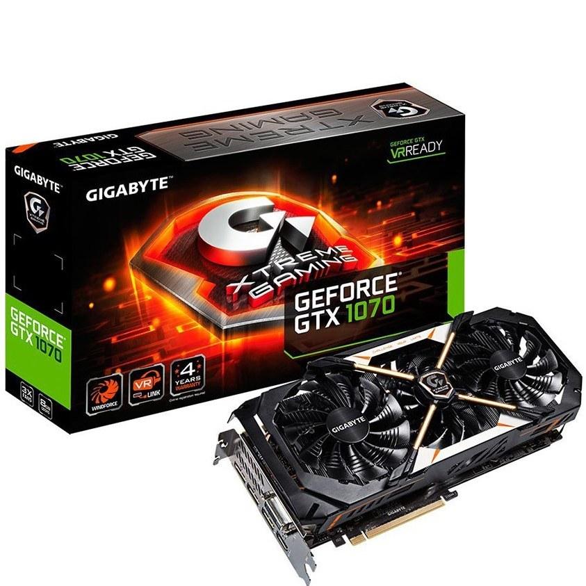 کارت گرافیک گیگابایت مدل جی تی ایکس ۱۰۷۰ اکستریم با ظرفیت ۸ گیگابایت | GigaByte GV-N1070XTREME-8GD GeForce GTX 1070 Xtreme Gaming 8G rev. 1.0 Graphics Card