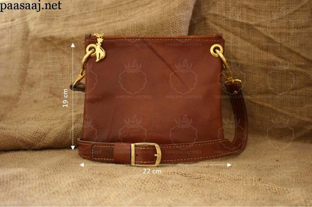 کیف حمایل چرم دو قلو زنانه