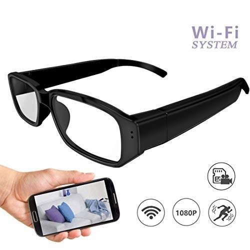 دوربین شیشه ای مخفی Wi-Fi 1080P دوربین کاملاً جاسوسی تشخیص حرکت در زمان واقعی ویدئو فعال شده از راه دور برنامه مشاهده