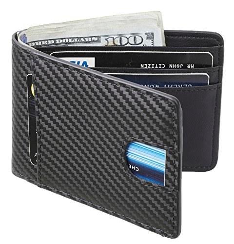 کیف پول چرمی مردانه Casmonal کیف چرمی پاکت پی سی جیبی Billfold مسدود کردن RFID