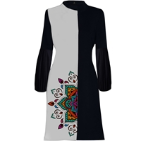 تصویر مانتو زنانه 27 طرح سنتی کد J02 رنگ طوسی